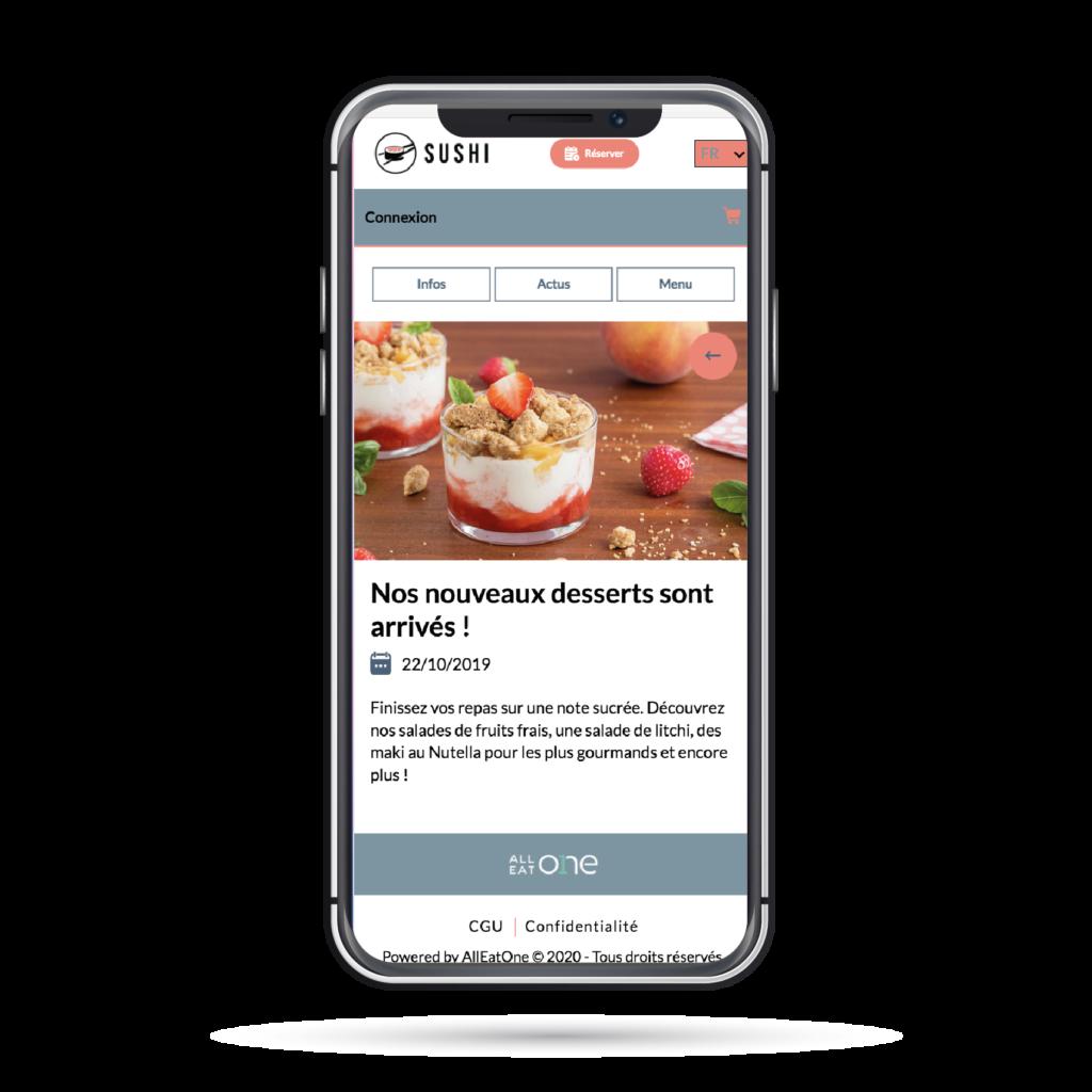 Communication clients - Partagez vos actus et évènements en ligne avec AllEatOne